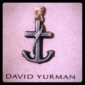 David Yurman Maritime Anchor Amulet Pendant Charm
